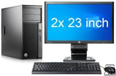 HP Workstation Z230 MT i7 4e Gen   2x 23
