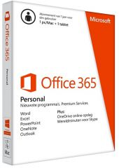 Microsoft Office 365 Personal 1PC/MAC 1jaar