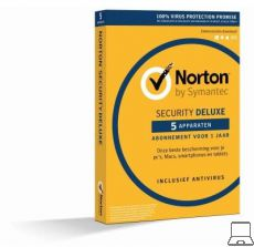 Norton Security Deluxe | 5 PC?s - 1 jaar